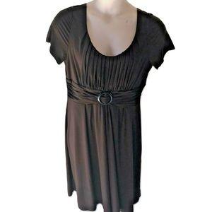 Julian Taylor 14 Dark Brown Dress Knit Midi Solid